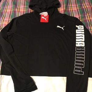 Puma light hoody, New with tags size M man.